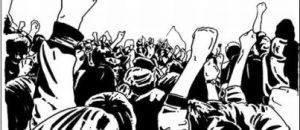 raising fists