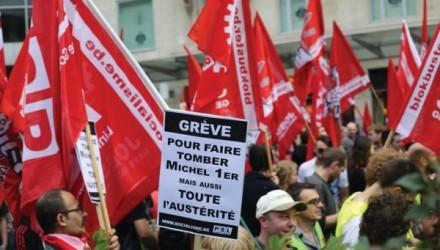 Belgium union protests 2016
