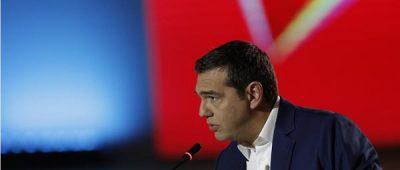 Ο πρόεδρος του ΣΥΡΙΖΑ Αλέξης Τσίπρας μιλάει κατά τη διάρκεια της συνέντευξης Τύπου στη 84η Διεθνή Έκθεση Θεσσαλονίκης, Κυριακή 15 Σεπτεμβρίου 2019. ΑΠΕ-ΜΠΕ /ΑΠΕ-ΜΠΕ/ ΚΩΣΤΑΣ ΤΣΙΡΩΝΗΣ